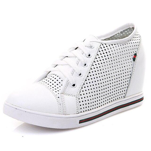 2017 Fashion Girl Leisure Breathable Shoes Casual PU Lace Up Shoes Women Flats Platform Shoes Plus Size 35-40 pcd20