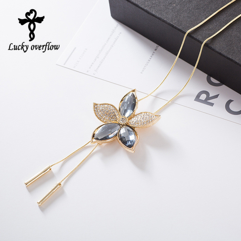 2018 Fashion New Products design Classic sweater long Necklace Statement necklace for women in autumn and winter Christmas gift