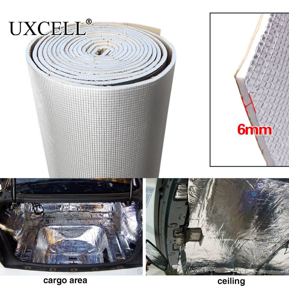 UXCELL 6mm 236mil Grosso De fibra de Alumina + Cachecol de algodão Car Auto Interior Calor Som Deadening Isolamento À Prova de Som Amortecimento Mat