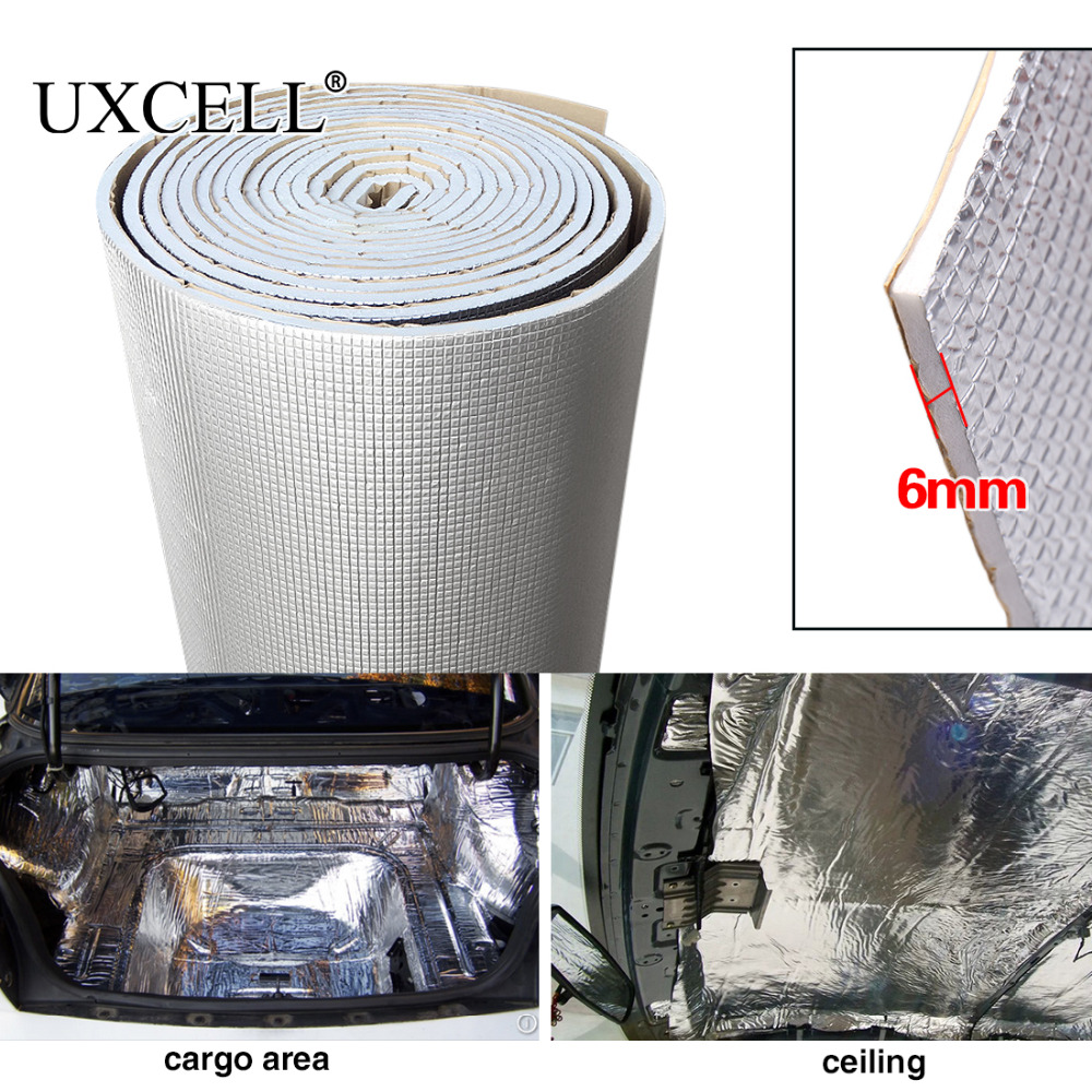uxcell Sound Deadening 236mil 6mm 16.36sqft Car Audio Door Hood Tailgate Floor Heat Deadener Mat 60 x 40