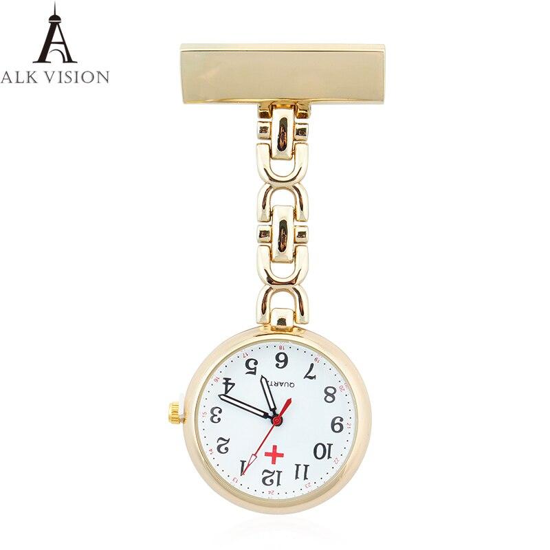 e55dc010f66 ALK VISÃO enfermeira fob relógio de bolso enfermeira assistir relógio  médica médico 2018 marca top quartz