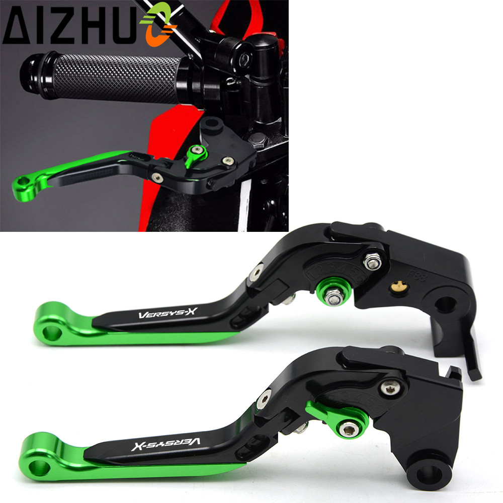 Motorcycle Accessories CNC Aluminum Adjustable Folding Extendable Clutch Brake Levers For Kawasaki Versys 300X 2008-2017 adjustable folding extendable brake clutch lever for kawasaki versys 1000 versys1000 14 15 free shipping with logo motorcycle