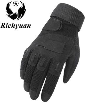 Us wojskowe rękawice taktyczne Outdoor Sports Army Full Finger Combat Motocycle antypoślizgowe rękawice z włókna węglowego żółw Shell tanie i dobre opinie Rękawiczki Poliester Mikrofibra Dla dorosłych Moda Nadgarstek Stałe PC016 Richyuan