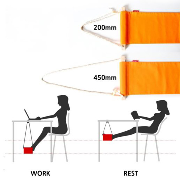 Portable Mini Office Foot Rest Stand Desk Feet Hammock Easy To Disemble Home Study Library Comfortable Outdoor Indoor In Hammocks From Furniture On