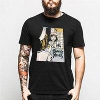 Summer Punk Metal Music Youth T Shirt Men Letter Print Cotton O Neck Tshirt Harajuku Short