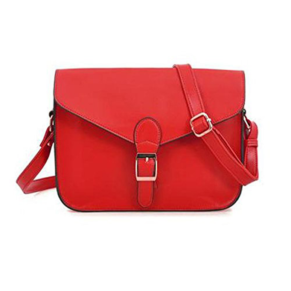 5pcs of Shoulder bag Briefcase with Vintage Preppy Red Button New for Girls