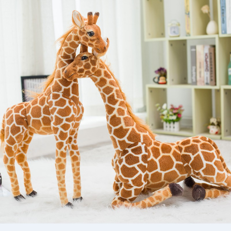 Cute Stuffed Animal Soft Giraffe Doll Birthday Gift Kids Toy 1