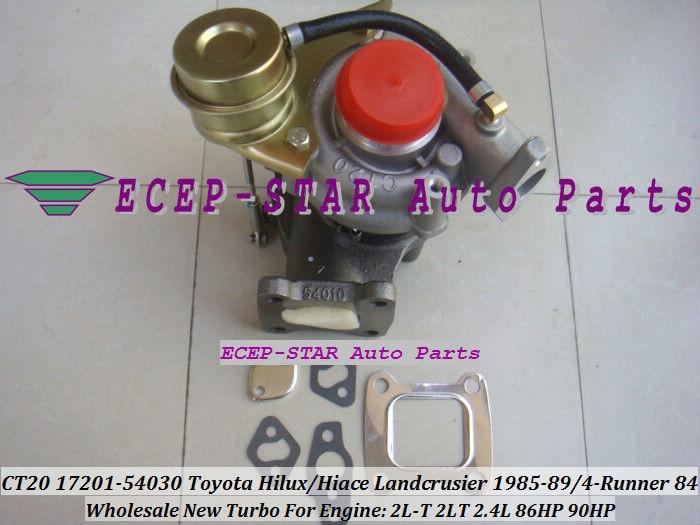 CT20 17201-54030 17201 54030 1720154030 Turbo turboladdare för TOYOTA LANDCRUISER LJ70 1985-89 4-Runner 1984- 2L-T 2LT 2L T 2.4L