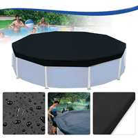 3.6m 12 Feet Protective Black Pool Cover for Above Ground Frame Inflatable Swimming Pools Foor Cloth ground Fabric