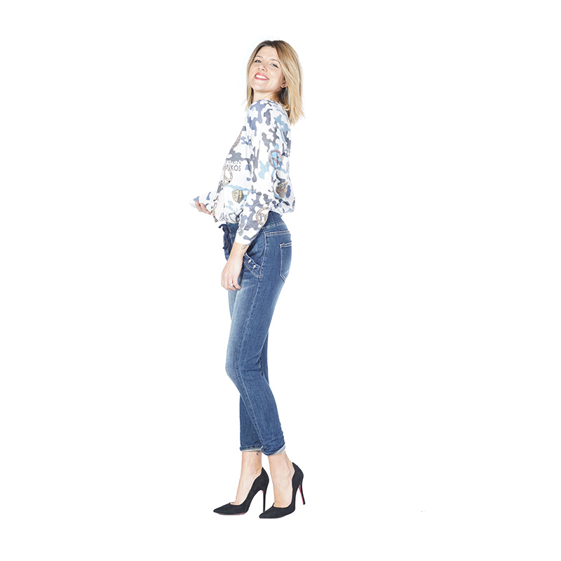 My Will Jeans Blue Rope Unconventional Curly Jeans 1191 Made In China