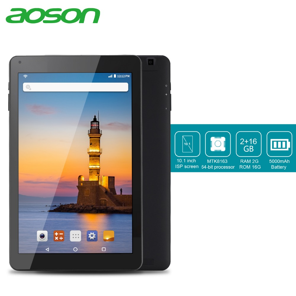 Aoson R101 tablet 10.1 inch 2GB+32GB Quad Core Tablets Android 6.0 Quad Core MTK Tablet PC Dual Cameras WIFI Bluetooth GPS