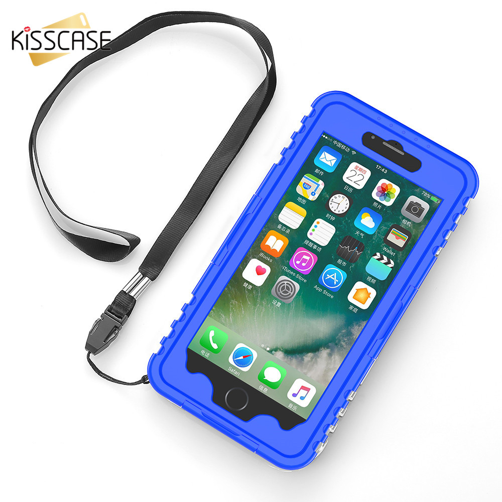 KISSCASE IP 68 Waterproof Case For iPhone 7 6 6S Plus Underwater Bag For Samsung S8 Plus S7 S6 Edge Plus S5 S4 S3 Note 5 4 Cases