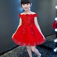 Children Elegant Girls Princess Beading Lace Dresses Kids Girl Tutu Wedding Christmas Birthday Party First Communion Dress E46