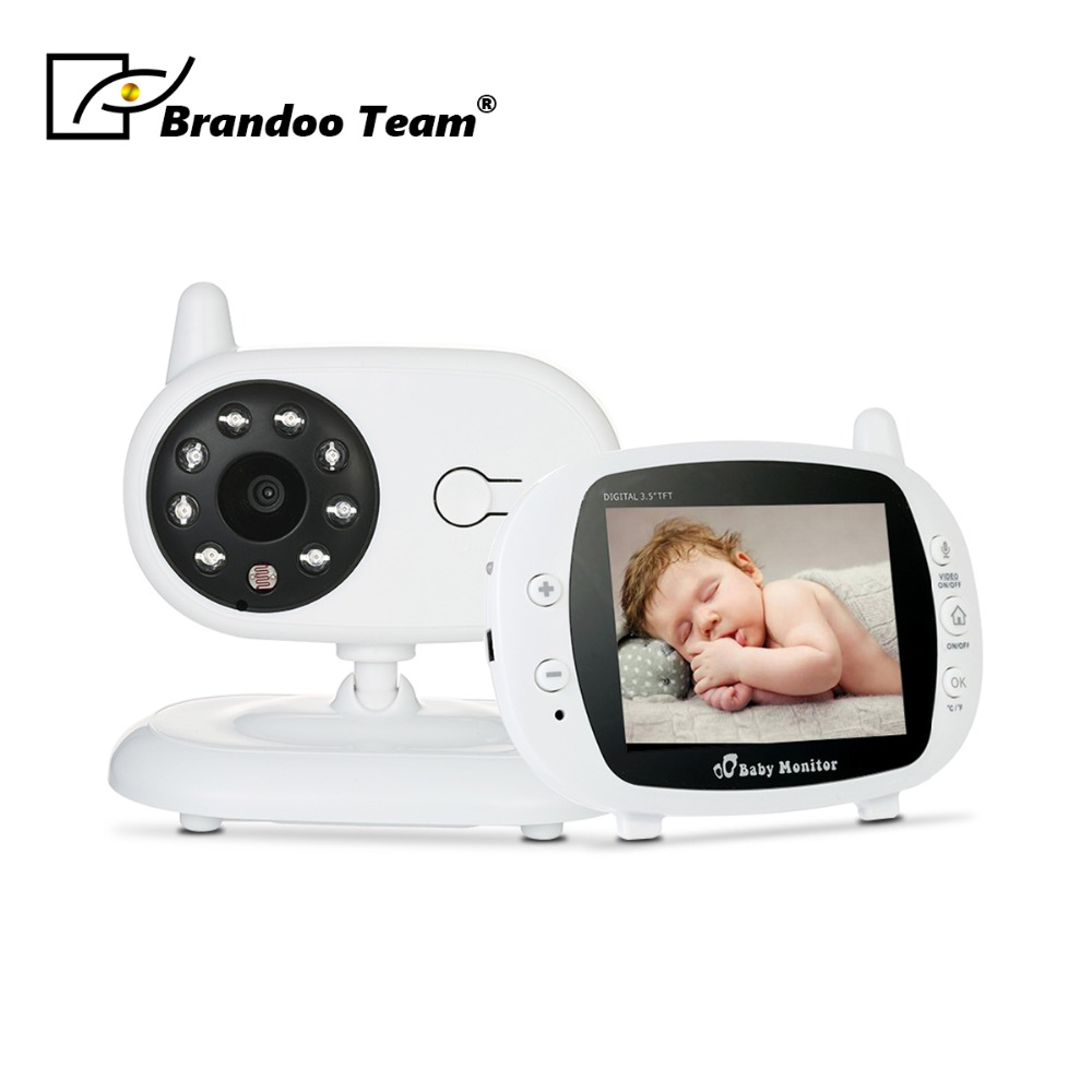 3.5 inch Wireless Video Color Baby Monitor Baby Nanny Security Camera Night Vision Temperature Monitoring цена