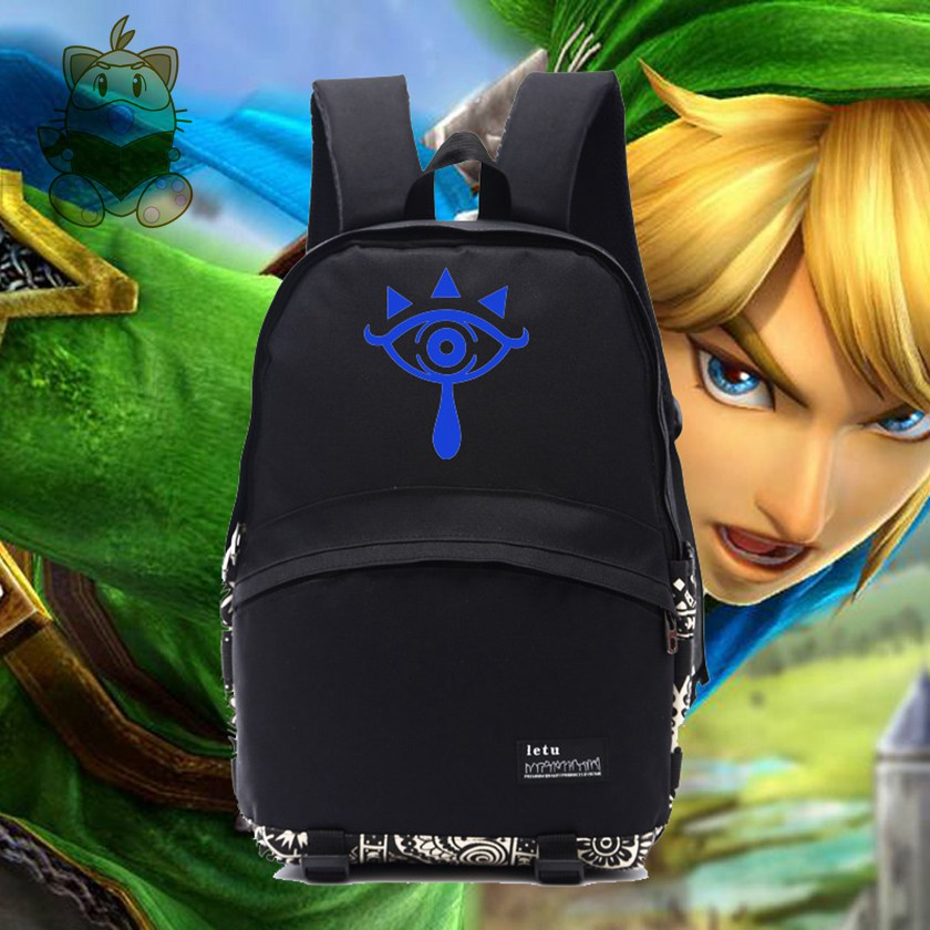 legend of ZELDA new game logo printing game fans backpack durable school bag gift for students game fans LINK backpack NB044 vn in the summer of 2016 popular american tv drama aegis bureau agents luminous printing logo backpack trend a surprise gift