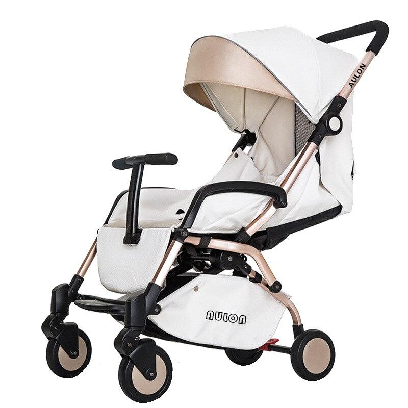 Aluminum Alloy Baby Stroller Lightweight Reclining Stroller Newborn Baby Carriage Travel Folding Four Wheels Umbrella Stroller