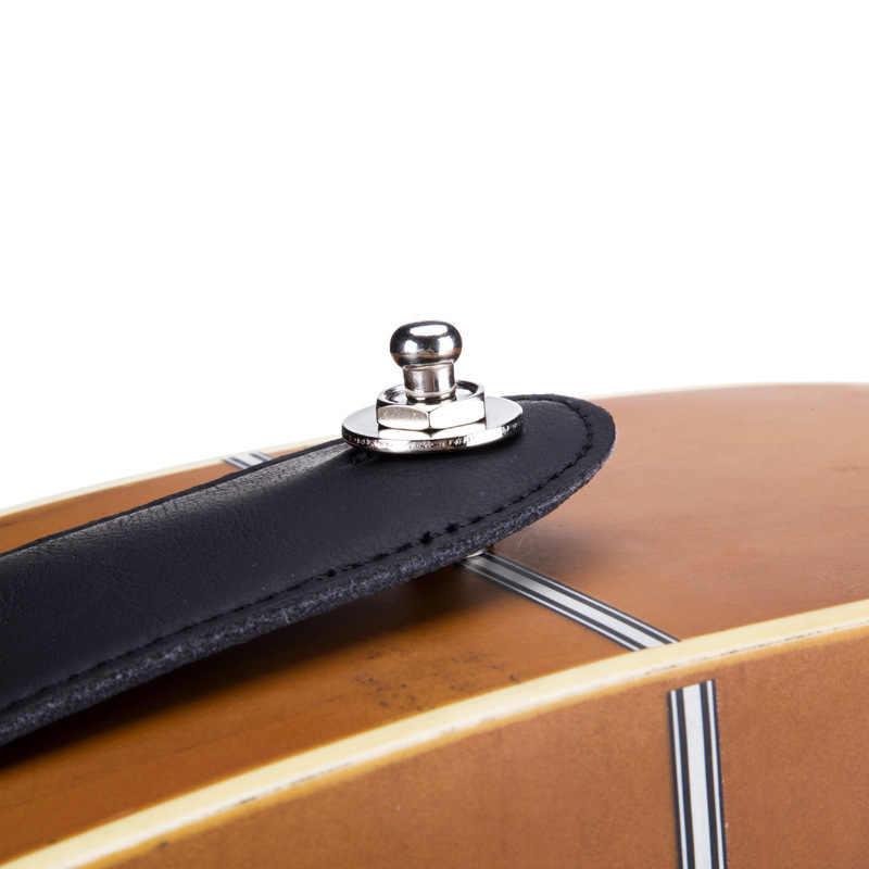 2 unid/set de correa de guitarra de bloqueo Straplock Straplok botón para todas las correas eléctricas acústicas correa de Bajo Eléctrico 3 colores
