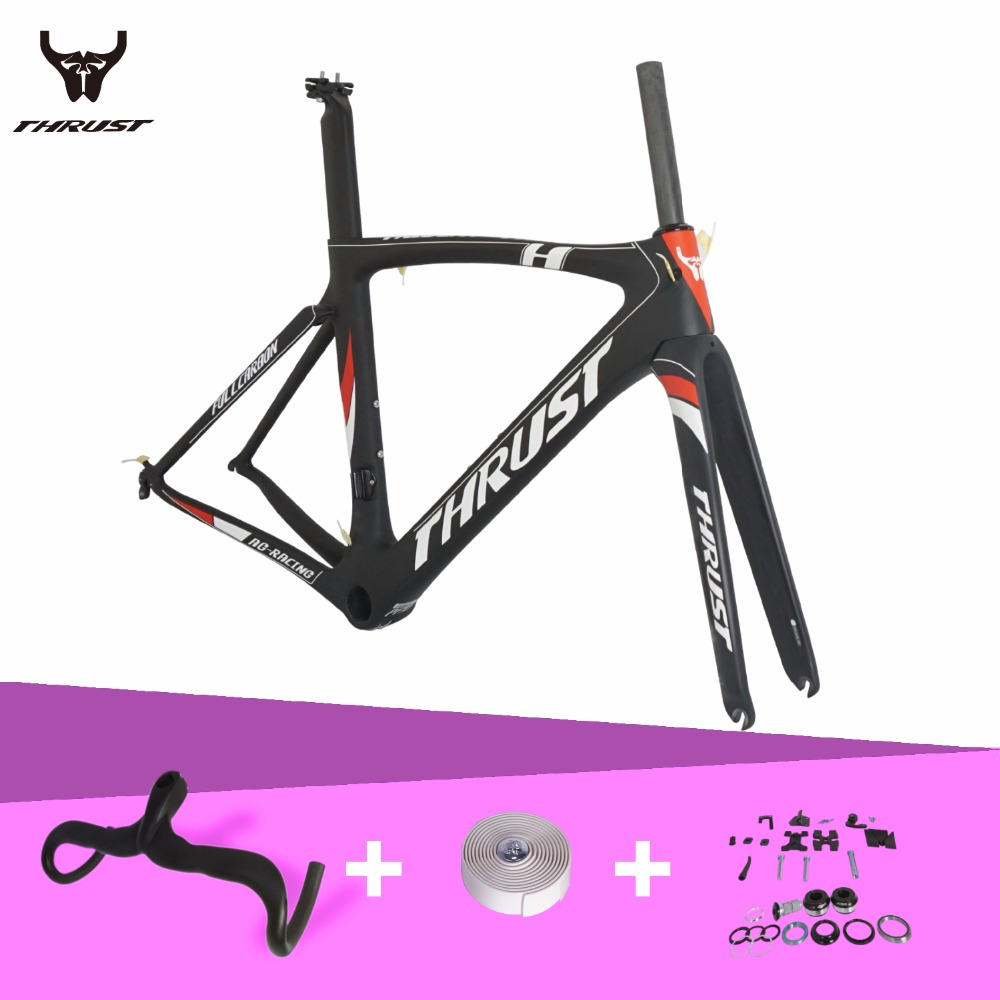 Carbon Road Frame T1000 Carbon Fiber Bike Frame PF30 System Road Carbon Frame with 3K Integrated Handlebar Bicycle Tape 6 Size стоимость