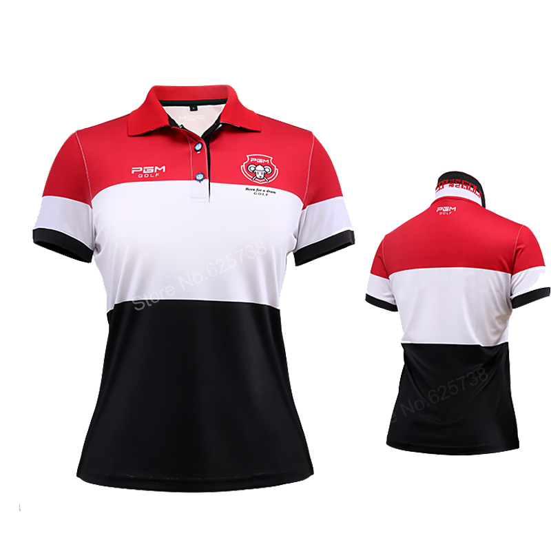 Pgm golf 2017 summer women golf shirts sports Quick Dry short-sleeve T-shirt breathable elastic tops