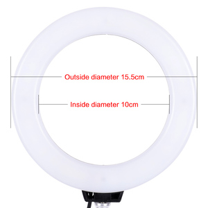 Image 3 - 6 inch Dimmable Cold Warm LED Studio Camera Ring Light Photo Phone Video Light Lamp With Tripods Ring Table Fill Light For Canon