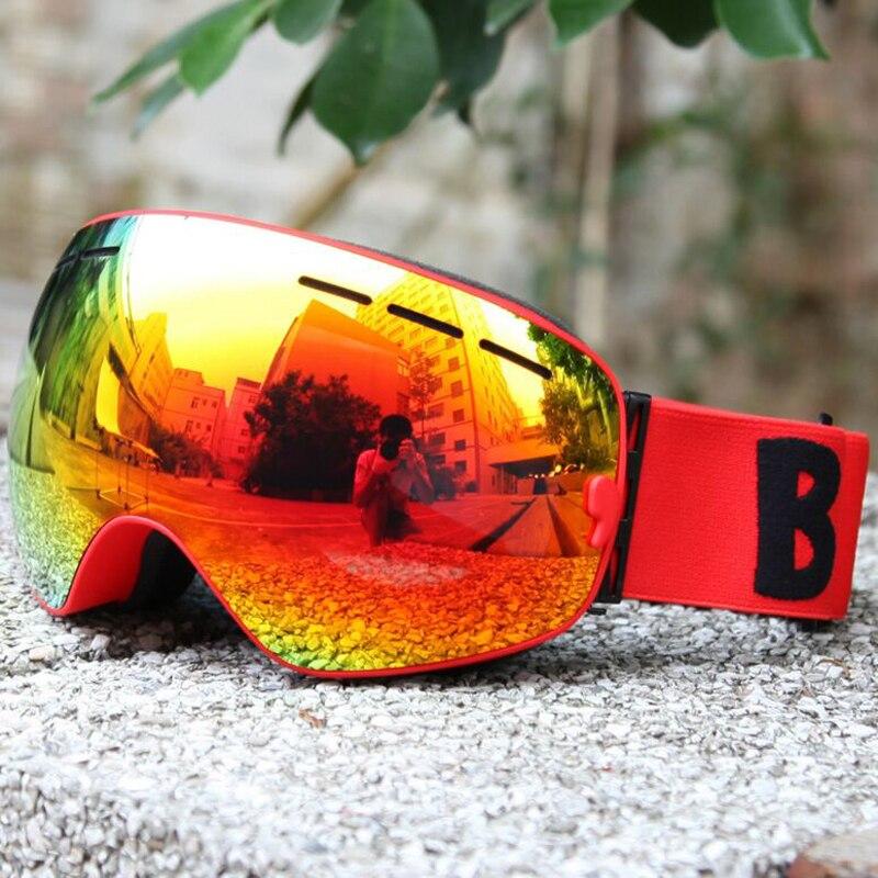 Professionnel Ski Lunettes double lentille UV400 Anti-brouillard Directement Couverture Lunettes Ski Snowboard Motoneige Skate Lunettes Unisexe