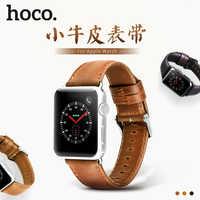 HOCO Genuine Leather Bracelet For Apple Watch Band 42mm 38mm / 44mm 40mm Series 5 4 3 2 1 For Apple Watch Strap iWatch Watchband