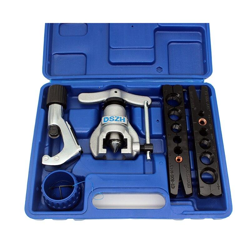 Livraison gratuite métrique et pouce tube expanseur kit climatiseur cuivre tuyau alésoir tube torchage outil 6-19mm 1/4-3/4 pouces