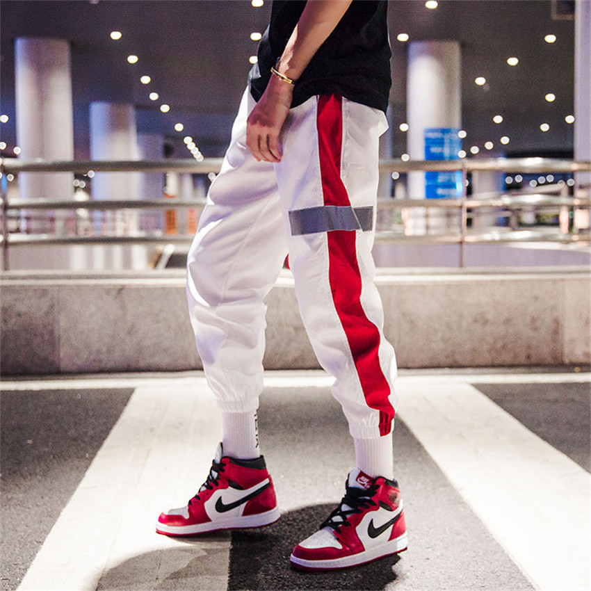 Harem Pants Men Trousers Harbor-Style Thin Hip-Hop Loose High-Street And Bandage COFFEY
