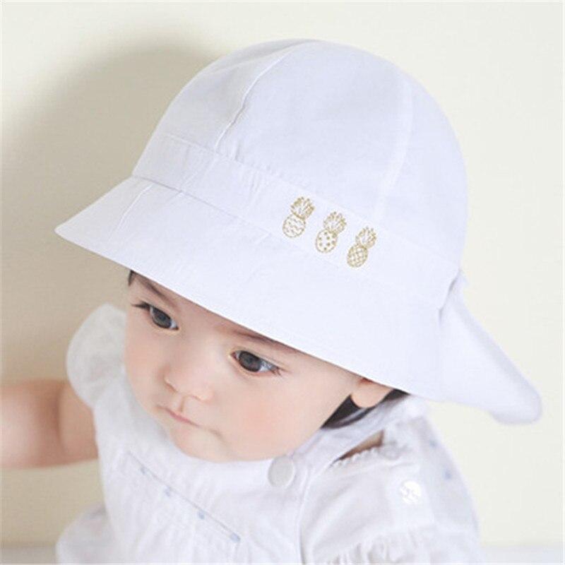 6ac08edad Sombrero de verano para bebé niños niñas sombreros de sol gorras de primavera  otoño con chal de algodón sombrero de cubo para bebé niños gorra de niño  nuevo ...