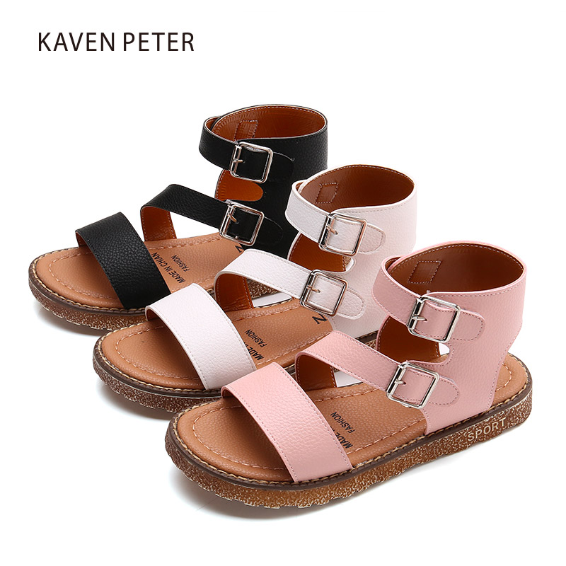 knee high gladiator sandals boots for kids peep toe ...