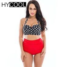 HYCOOL Zweiteiler Bikini 2017 Plus Größe 3XL Bademode Drucken Weibliche Hot Spring Badeanzug Frauen Tankini Set Bade Badeanzug