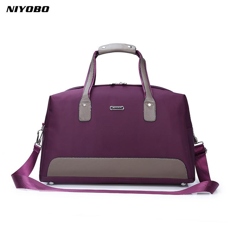 NIYOBO Fashion Women Large Capacity Luggage Duffle Bags Waterproof Oxford Female Travel Bags Shoulder Bag Bolsa De Viagem