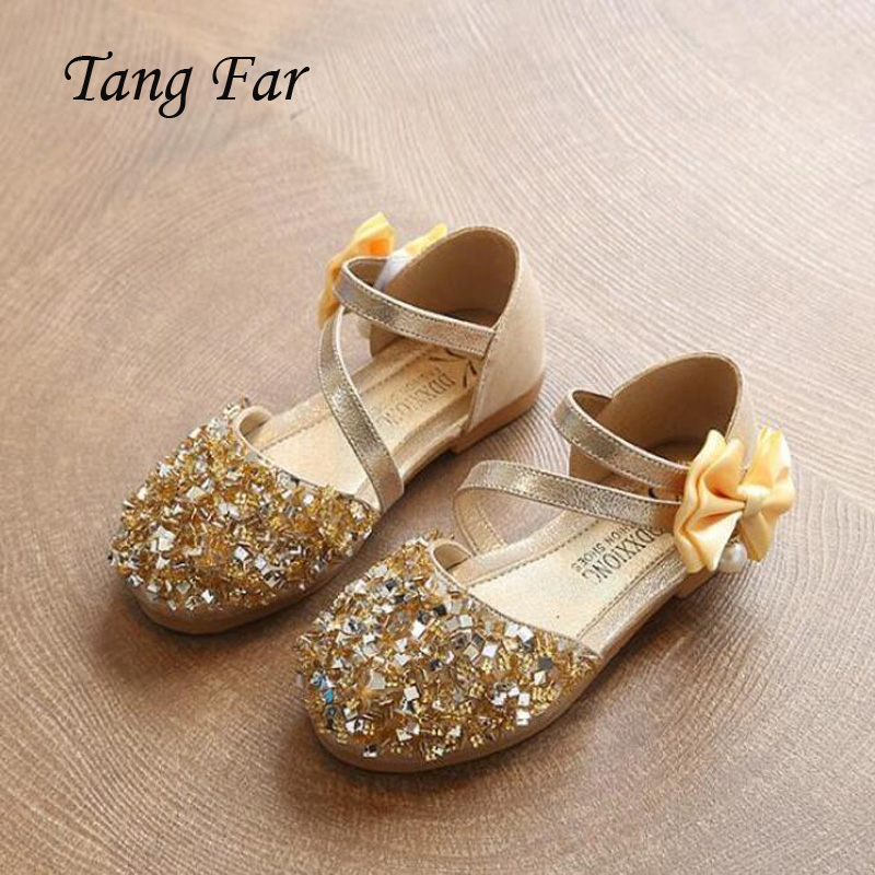 Girls Hard Sole Sequin Black Fairy Ballet Shoes