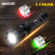 1 Mode 400 Yard 3 Light color (Green/Red/White) VA-802 Hunting Flashlight Rechargeable battery Tactical frame Tail switch