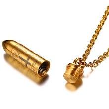 Engraved Bible Prayer Bullet Pendant for Men