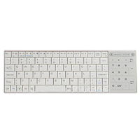 White Wireless Bluetooth 3 0 Keyboard With Touchpad For Apple MacBook Air Pro