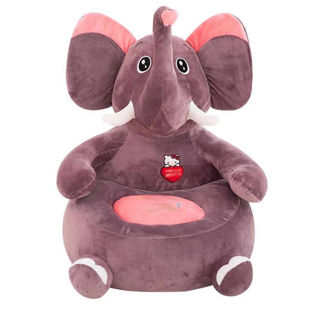 1-4Y Bebê Cadeira Do Sofá Crianças Cute Padrão Animal Dos Desenhos Animados de Pelúcia Almofada Confortável Assento do Saco de Feijão Crianças Moda Cama Dormindo