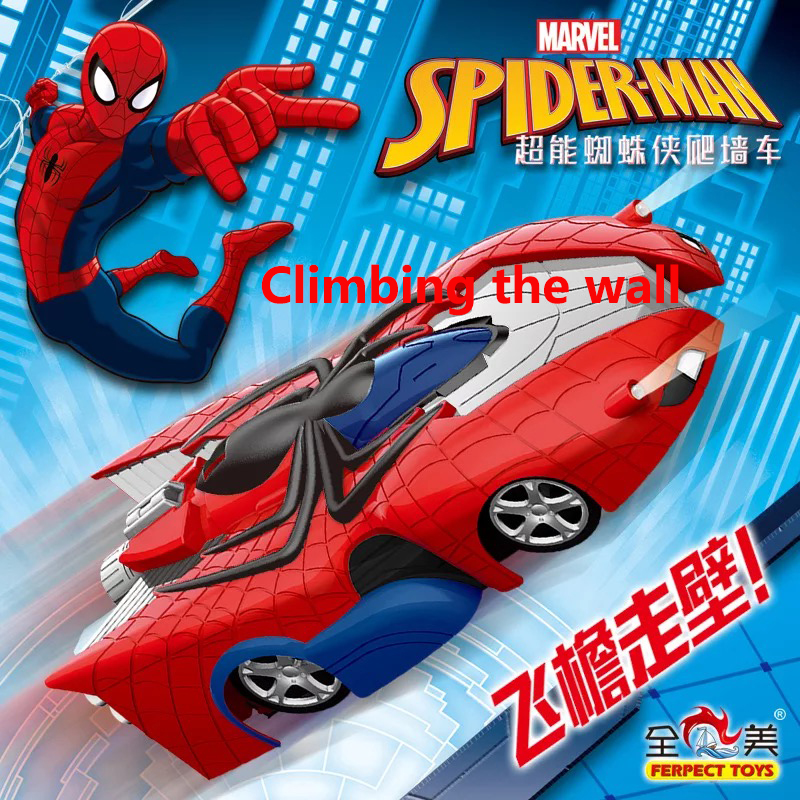 Marvel New Transformer Spiderman RC Wall Climbing Car Remote Control Bugatti Veyron  Electric Toys Gift For Boy Children