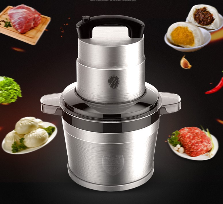 6L Stainless Steel Meat Grinder Chopper Automatic Electric Mincing Machine High-quality Household or Commercial Food Processor6L Stainless Steel Meat Grinder Chopper Automatic Electric Mincing Machine High-quality Household or Commercial Food Processor