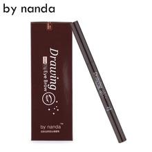 BY NANDA 2 IN 1 Automatic Makeup Eyebrow Waterproof Permanent Eyebrow Pencil Cosmetics Brow Eye Liner Tools 6 Color