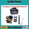Fiber Optic Bag FTTH Tool Kit with Optical Fiber Cleaver Cutter and Fiber Optic Power Meter TL510 and 1mw VFL Laser Pen Tester
