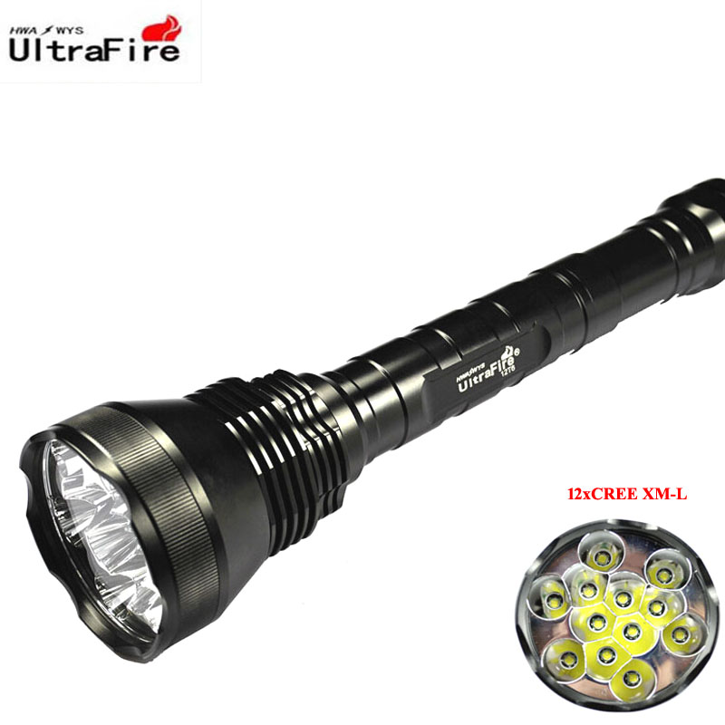 VUAN U-F 12xCREE XM-L T6 13800 Lumen 5-Mode LED Flashlight (3x26650/3x18650) фонарик oem 13800 12 x cree xm l t6 18650 3 x 26650 jnc fl12t6