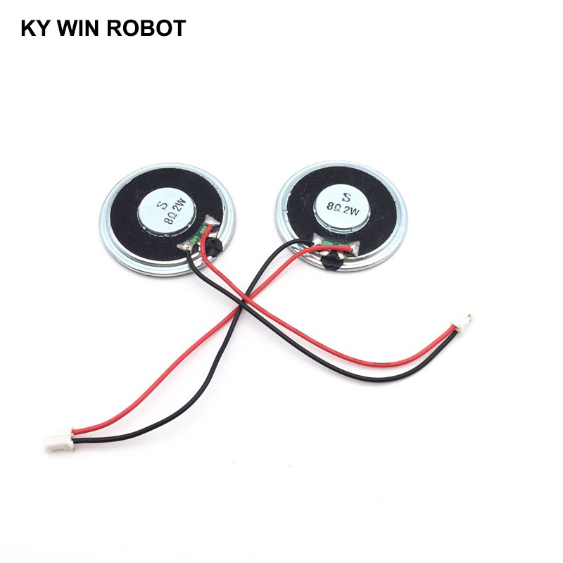 2pcs/lot New Ultra-thin <font><b>speaker</b></font> <font><b>8</b></font> <font><b>ohms</b></font> 2 watt <font><b>2W</b></font> 8R <font><b>speaker</b></font> Diameter 40MM 4CM thickness 5MM with PH2.0 terminal wire length 10CM image