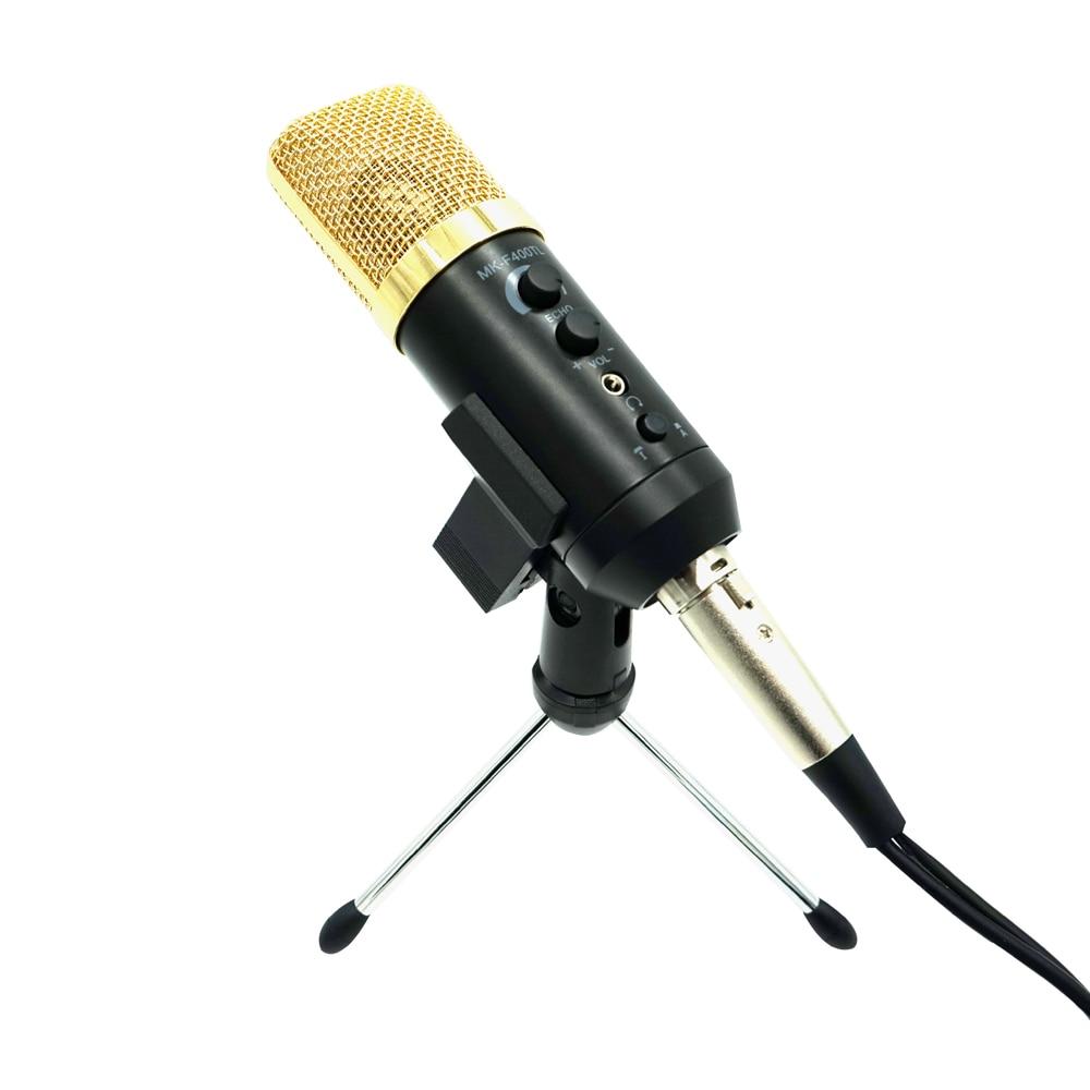 TGETH MK-F400TL / MK-F500TL Studio Microphone USB Condenser Sound Recording Add Stand Free Driver For Mobile Phone Computer alto tx10