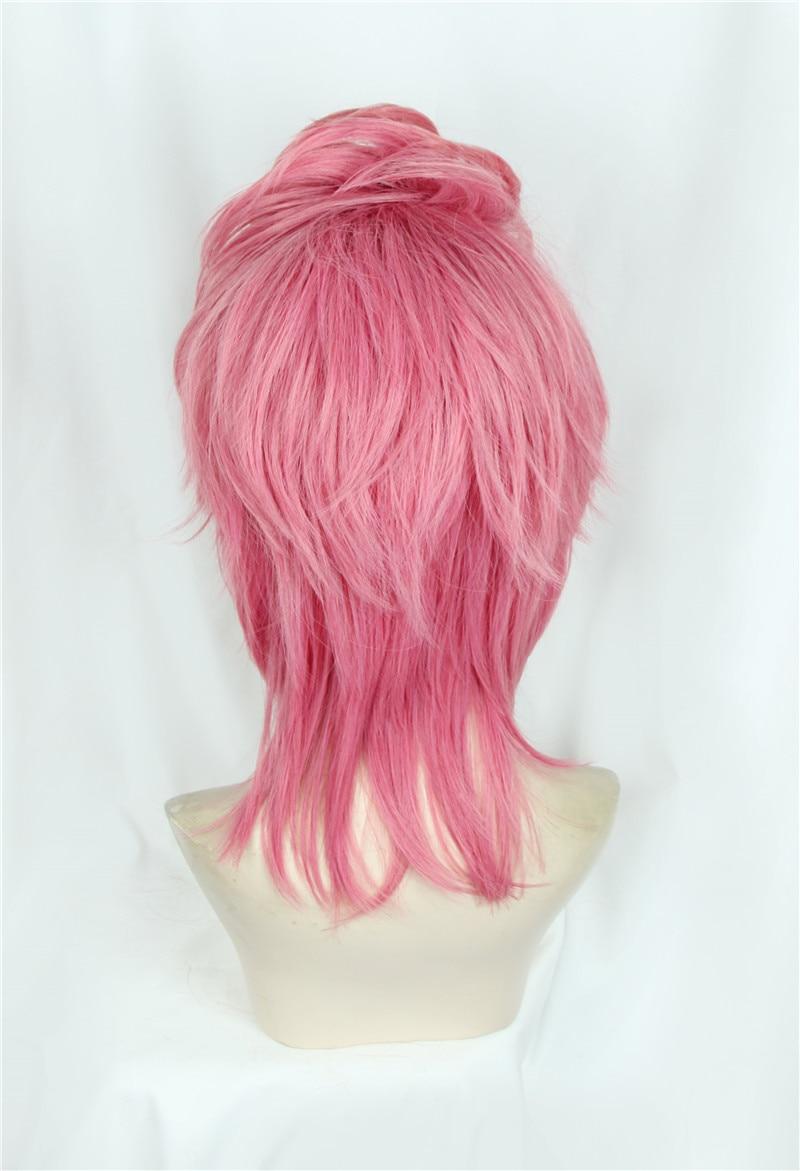 JoJo/'s Bizarre Adventure Trish Una Cosplay Short Pink Hair Costume Wig+Wig Cap
