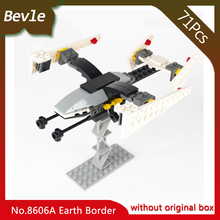 Bevle Store LEPIN 8606A 71Pcs Star Wars Series Floating searcher Building Blocks set Bricks Children For Toys Gudi Gift