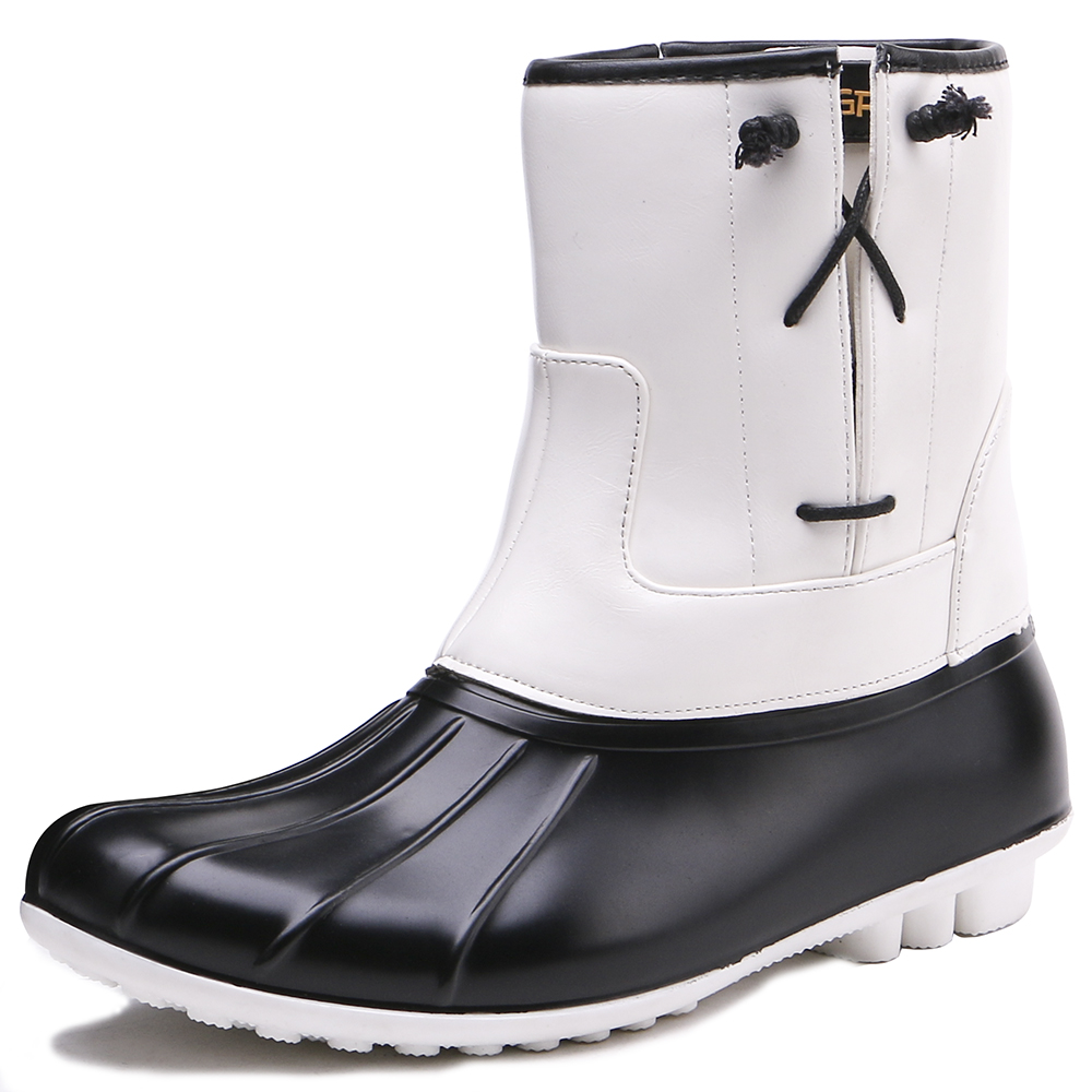 TONGPU Ladys PVC Duck Boots Womens Causual Design Outdoor Rain Boots 28-299