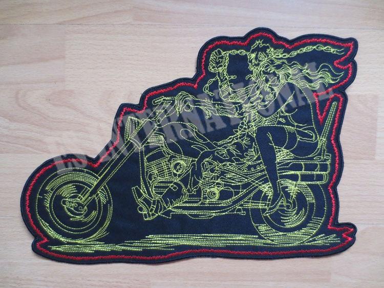 13 Inches Vrijheid Rit Borduurwerk Patches Voor Jacket Terug Vest Motorfiets Club Biker Mc