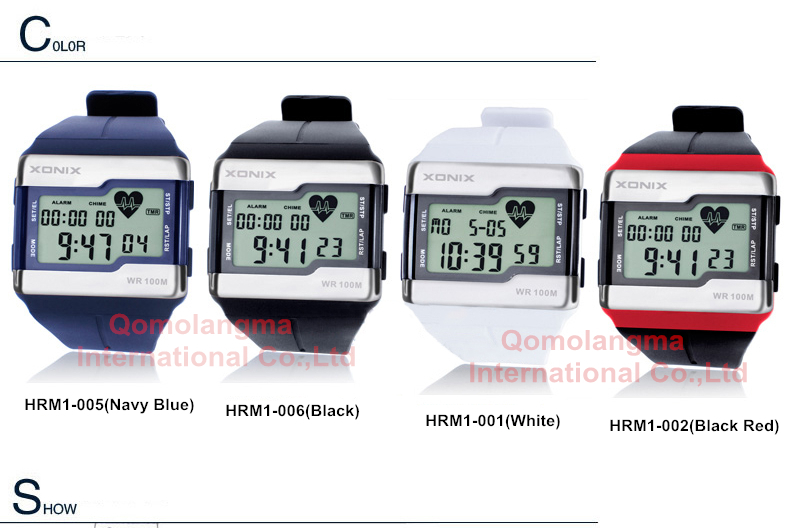 cardíaca masculino esportes relógios à prova dwaterproof