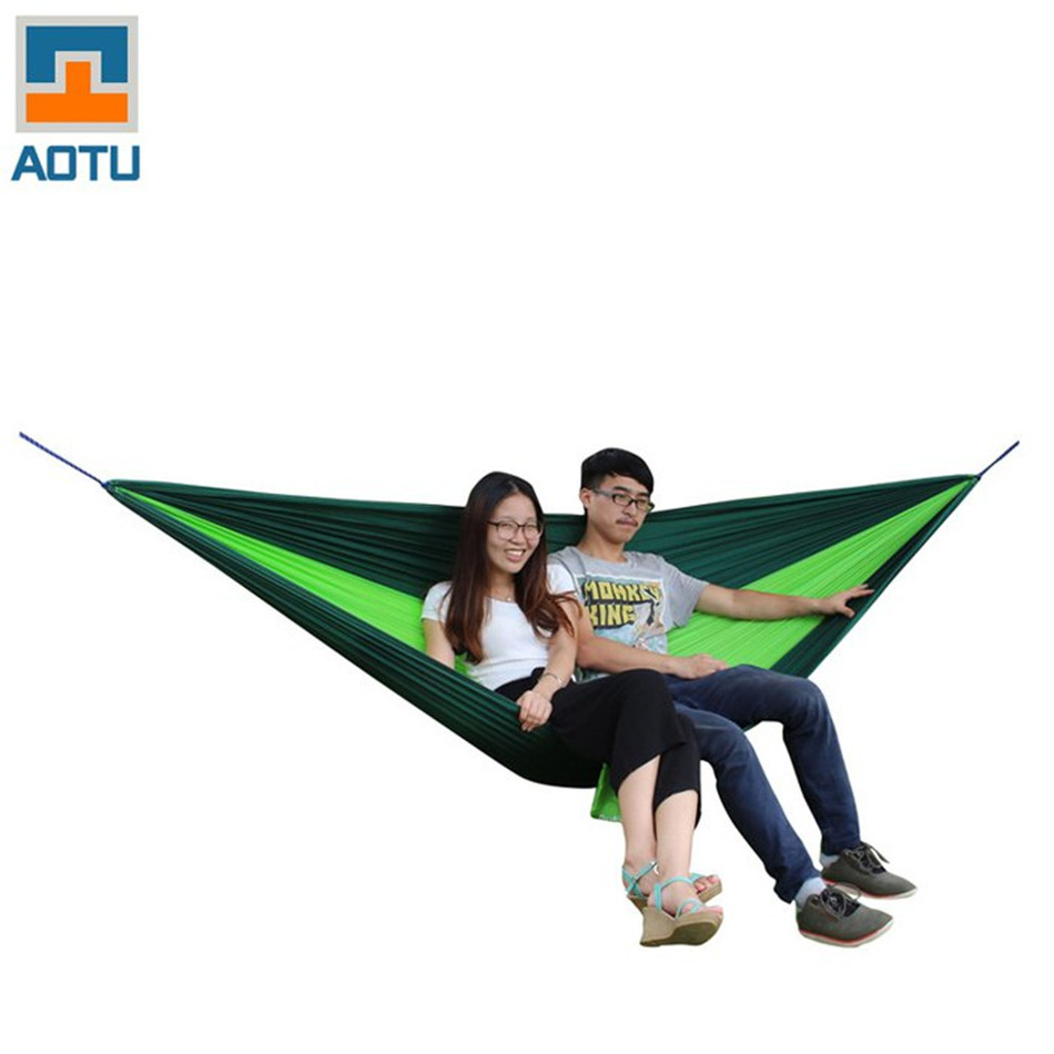 Newly AOTU AT6737 Camping 2-Person Parachute Nylon Fabric Hammocks 18 x 18 x 10 cm for Backpacking,Camping,Casual,Hiking,Travel aotu at6737 2 person parachute nylon fabric hammock
